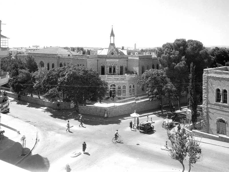 בית החולים הגרמני, רחוב הנביאים, אוגוסט 1939. מתוך: אוסף האמריקן קולוני, ארכיון הקונגרס,  matpc.14690.